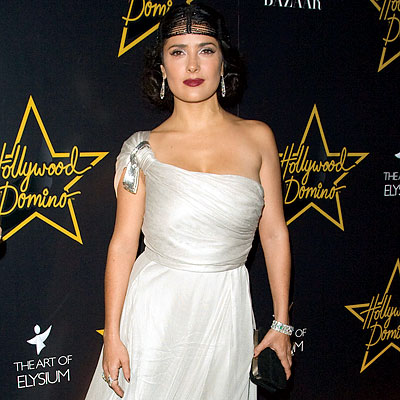 Salma Hayek Hollywood Dominos