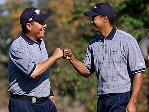 Notah Begay and Tiger Woods
