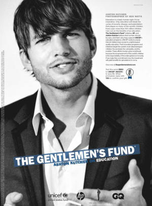 Ashton Kutcher GQ The Gentlemen's Fund Ball