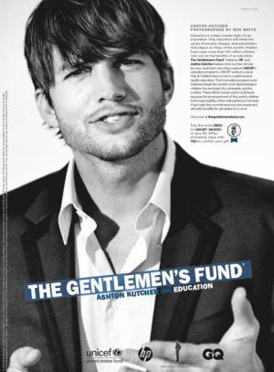 Ashton Kutcher GQ The Gentlemen's Fund Ball