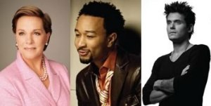 Julie Andrews John Legend John Mayer