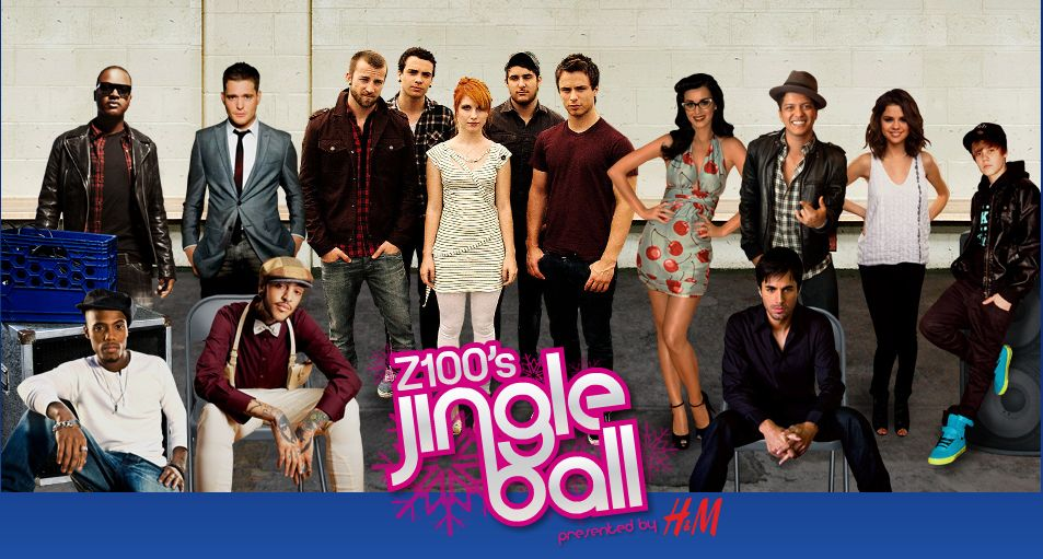 The Z100 Jingle Ball annual New York Christmas charity concert in 2010 is on